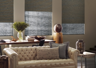 Dual Roller Shades / Provenance Fabric Material: Telluride Color: Lead Mine