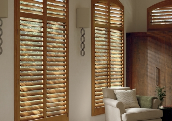 New Style Hybrid Shutters / Heritance Fabric Material: Genuine Hardwood Color: Goldenrod