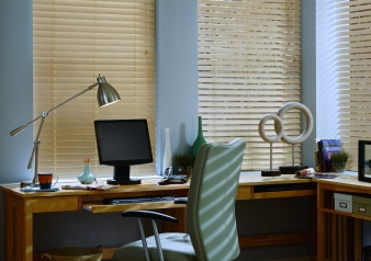 "2"" Wood Blinds / Everwood / TruGrain Fabric Material: Alternative Wood Color: Natural"